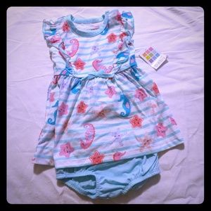 NWT Healthtex 6-9M Dress with matching Bloomers